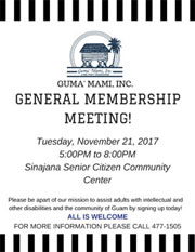 GENERAL MEMBERSHIPMEETING flyer